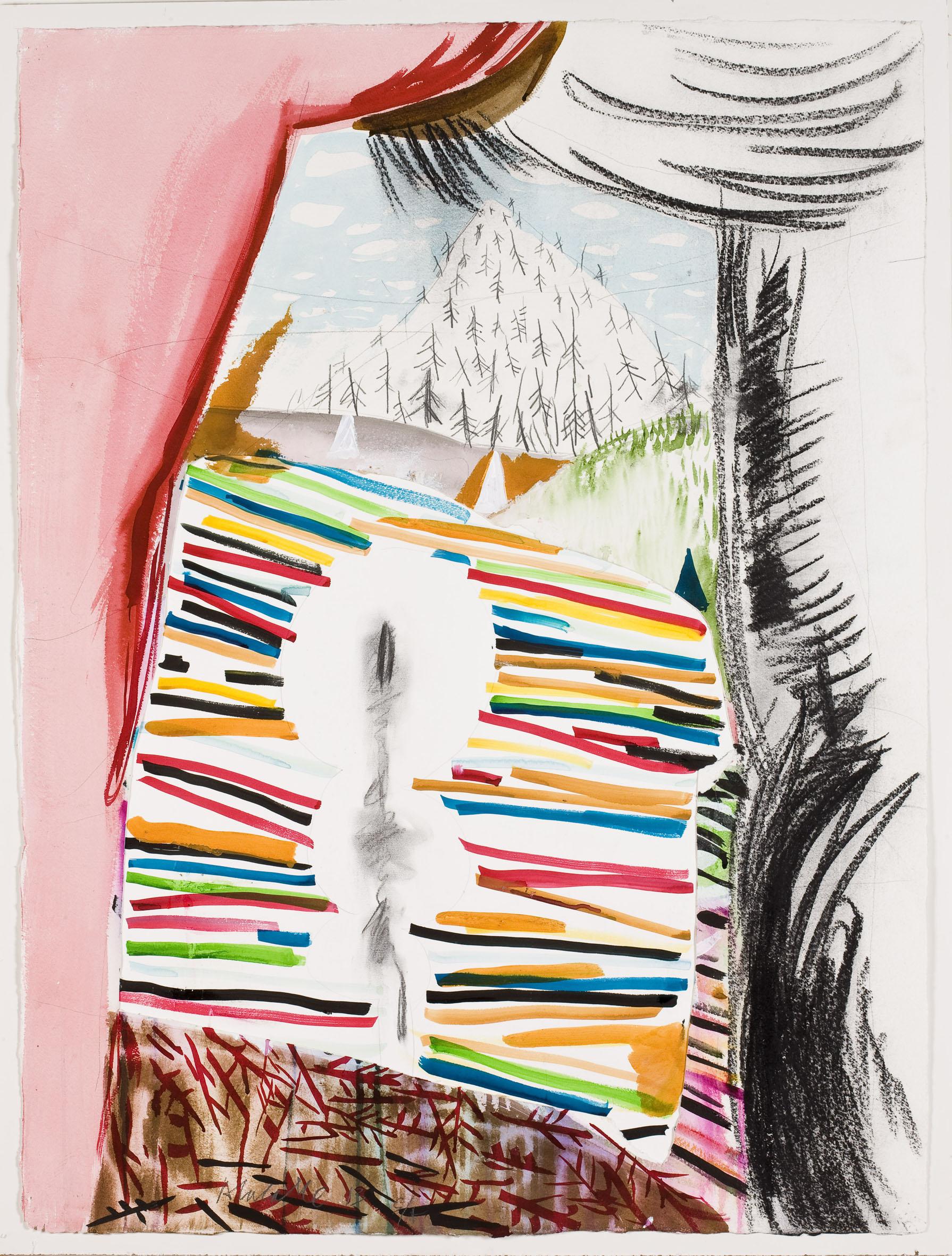 Lacalle, Desde dentro, 2013, acuarela s.papel