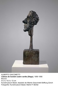 Alberto Giacometti (1901–1966); Tête d'homme sur tige (Diego); 1956–1958