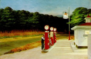 Gas Station, (Edward Hopper, 1940)
