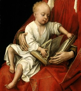 Rogier_van_der_Weyden_-_Virgin_and_Child_(Durán_Madonna)_-_Prado_P02722_(Detail)