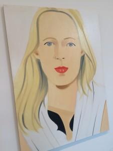 Rubia Alex Katz en El faro de Hopper