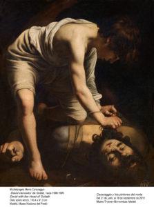 Caravaggio trae las figuras al frente para dar realismo