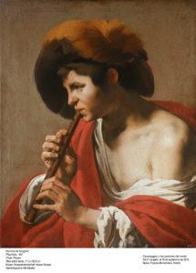Un musico muy a lo Caravaggio pero de Holanda