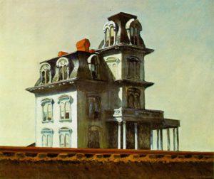 La casa junto a la vida del tren de Hopper, en el MOMA de Nueva York