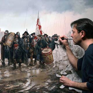 La historia de España ha pasado del sótano de la memoria a la imaginación de los jóvenes. Entramos en el estudio de Augusto Ferrer – Dalmau, pintor de nuestro lado más épico